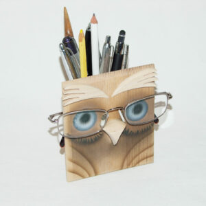 Brillen & Stiftehalter Eule