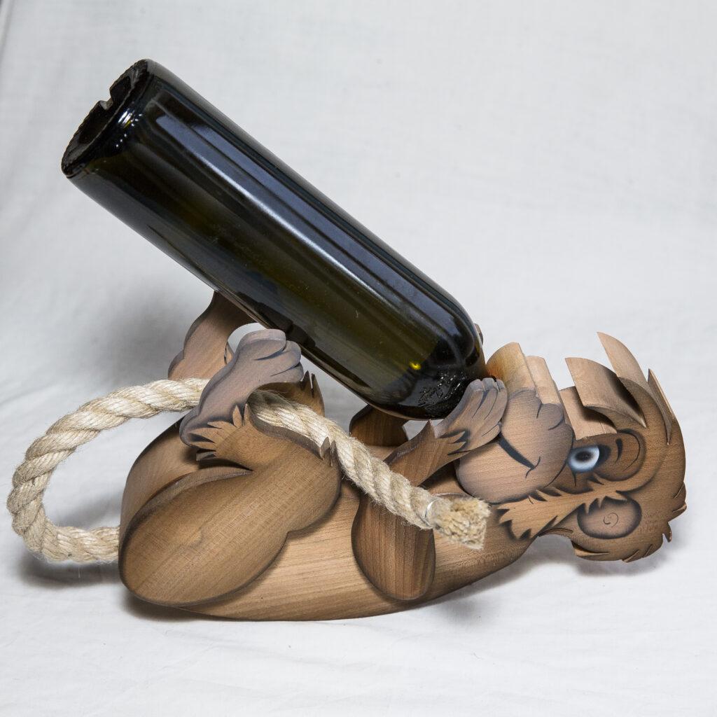 Flaschenhalter Affe