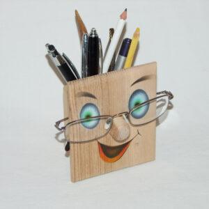 Brillen & Stiftehalter Gesicht